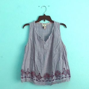 Bohemian Embroidered Tank